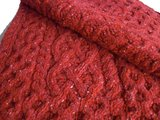 Luxe Aran scarf red